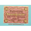 Rakousko Kassenschein 20 Heller Wien
