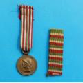 Miniatura - Italská pamětní válečná medaile - Gverra per L´ Unita 1918