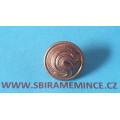 Četnictvo - Knoflík na uniformu - uniformní knoflík - zlatý mořený ČS - UNIVERSELLE - průměr 15mm