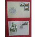 DDR obálka 750 Jahre Oschatz a kartička - Filatelistická výstava 1989 Magdeburg