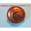 Četnictvo - Knoflík na uniformu - uniformní knoflík - zlatý mořený ČS - UNIVERSELLE - průměr 25mm