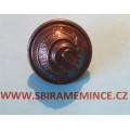 Finanční stráž - Knoflík na uniformu - uniformní knoflík - mořený ČS - F.V.P. - průměr 21mm