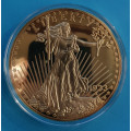 Pozlacená replika - USA 20 Dollar 1933 - PROOF - 70 mm