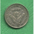 South Africa 3 pence Georgius Sextus /VI/ 1949 - Ag