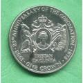 Tristan da Cunha 1 (one) crown 25.výr.korunovace Elizabeth II. 1978 PM - Ag