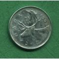 Kanada 25 cents 1968 - Ag