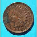 1 ( one ) cent 1901 indián - Indian Head