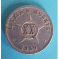 Kuba - XX.centavos 1969 - al