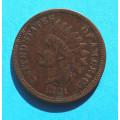 1 ( one ) cent 1881 indián - Indian Head