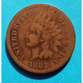 1 ( one ) cent 1882 indián - Indian Head