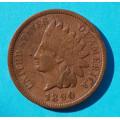 1 ( one ) cent 1890 indián - Indian Head