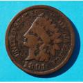 1 ( one ) cent 1891 indián - Indian Head