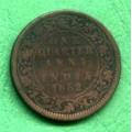 Indie - One Qurter Anna 1882 - Cu