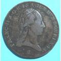 František II.  3 krejcar 1800 C ( Praha ) - Cu