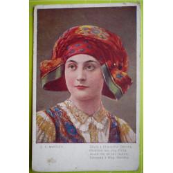 C.V.Muttich - Děvče z Uherského Ostroha - prošlá1920