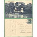 Dresden Zwingerteich - LODĚ - loděnice a opera - prošlá 1911