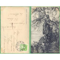 Praha - Pomník Hynka Máchy - prošlá 1922